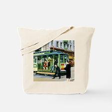 Vintage San Francisco Cable Car Tote Bag