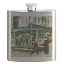 Vintage San Francisco Cable Car Flask