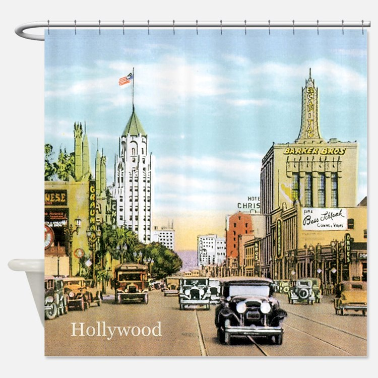 old hollywood shower curtains old hollywood fabric shower curtain liner. Black Bedroom Furniture Sets. Home Design Ideas