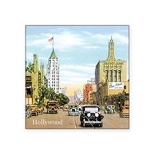 """Vintage Hollywood Square Sticker 3"""" x 3"""""""