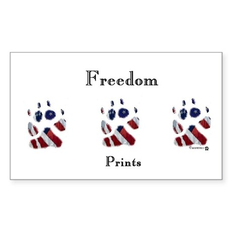 Freedom Prints Rectangle Sticker