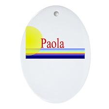 Paola Oval Ornament