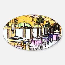 Cafe in Railroad Car Sticker (Oval)