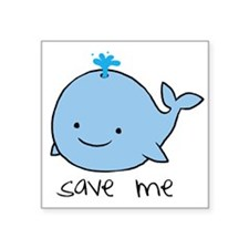 save me whale Rectangle Sticker