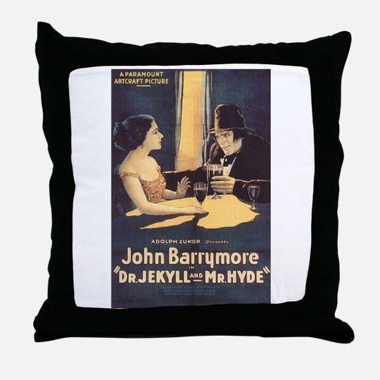 Dr. Jekyll and Mr. Hyde 1920 Throw Pillow