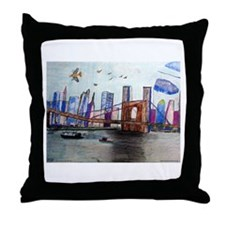 johnbudneybridgetshirt.jpg Throw Pillow