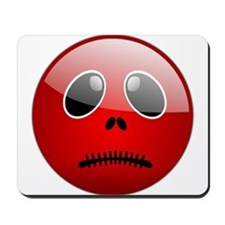 Halloween Red Smilie Mousepad