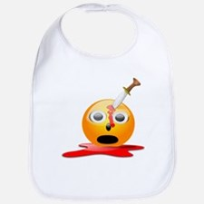 Funny Smiley Face for Halloween Bib