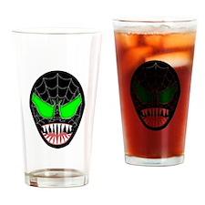 Spooky Halloween Mask Drinking Glass