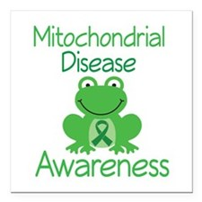 "Mito Awareness Frog Square Car Magnet 3"" x 3"""