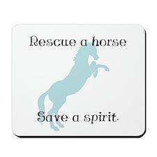 Rescue a horse... Mousepad