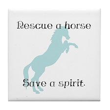 Rescue a horse... Tile Coaster