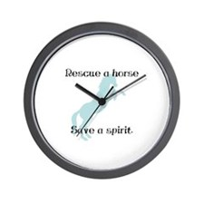 Rescue a horse... Wall Clock