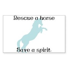 Rescue a horse... Rectangle Decal