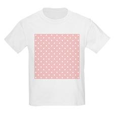 Pale Pink Dot Pattern. T-Shirt