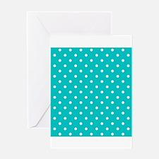 Teal dot pattern. Greeting Card