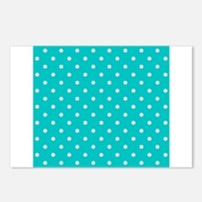 Teal dot pattern. Postcards (Package of 8)