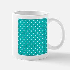 Teal dot pattern. Mug