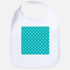 Teal dot pattern. Bib