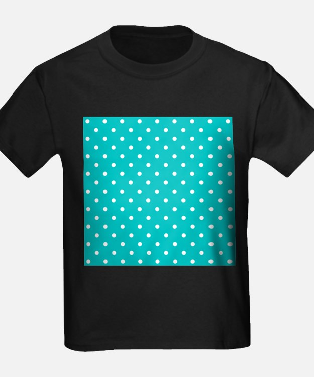Teal dot pattern. T