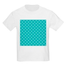 Teal dot pattern. T-Shirt