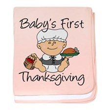 Baby Girl First Thanksgiving baby blanket
