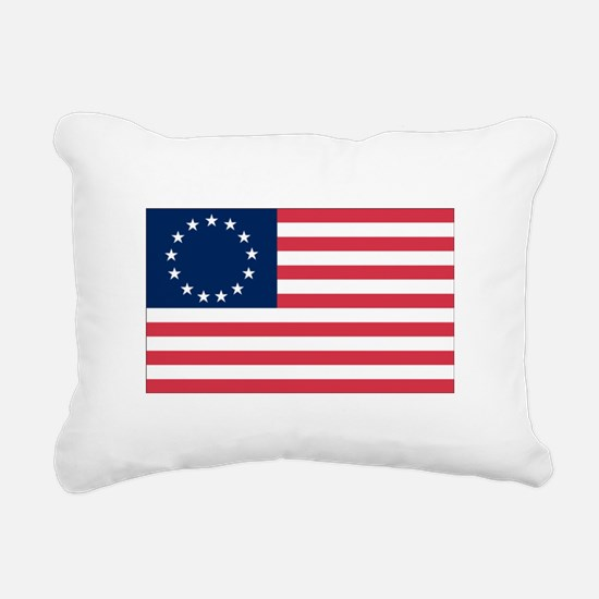 Betsy Ross flag.png Rectangular Canvas Pillow