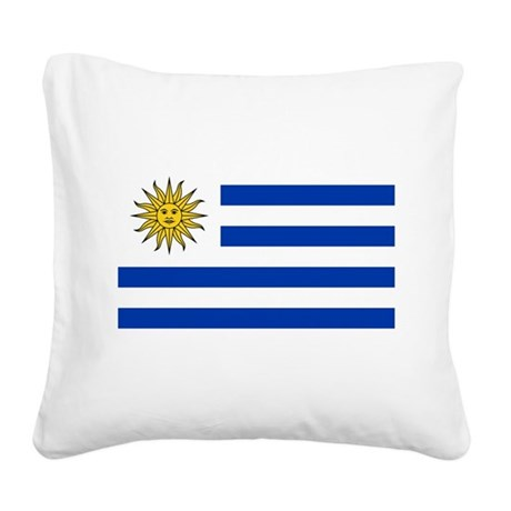 Uruguay.png Square Canvas Pillow