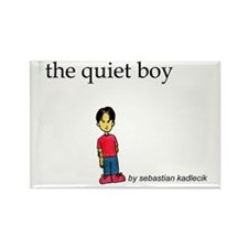 Quiet Boy Rectangle Magnet