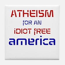 Idiot Free America Tile Coaster