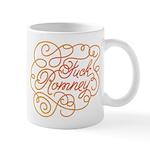 Cursive Fuck Romney Mug