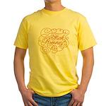 Cursive Fuck Romney Yellow T-Shirt