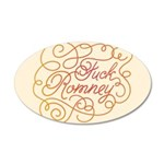 Cursive Fuck Romney 35x21 Oval Wall Decal