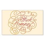 Cursive Fuck Romney Sticker (Rectangle)