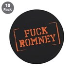 "Fuck Romney Stamp 3.5"" Button (10 pack)"