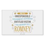 Irresponsible Entitled Sticker (Rectangle 10 pk)