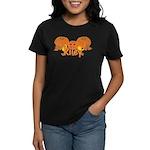 Halloween Pumpkin Riley Women's Dark T-Shirt