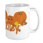 Halloween Pumpkin Riley Large Mug