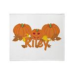 Halloween Pumpkin Riley Throw Blanket