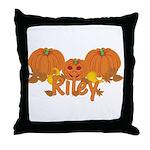 Halloween Pumpkin Riley Throw Pillow