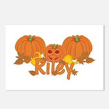 Halloween Pumpkin Riley Postcards (Package of 8)