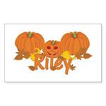 Halloween Pumpkin Riley Sticker (Rectangle)
