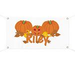 Halloween Pumpkin Riley Banner