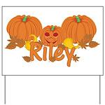 Halloween Pumpkin Riley Yard Sign