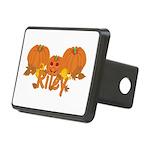 Halloween Pumpkin Riley Rectangular Hitch Cover