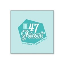 "The 47 Percent Square Sticker 3"" x 3"""