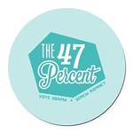 The 47 Percent Round Car Magnet