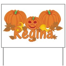 Halloween Pumpkin Regina Yard Sign