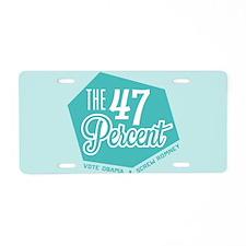 The 47 Percent Aluminum License Plate