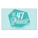 The 47 Percent Sticker (Rectangle)